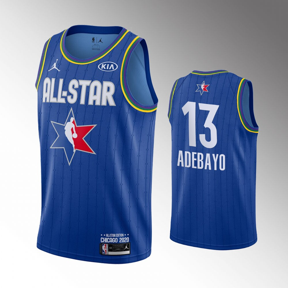 Men's Miami Heat 2020 NBA All-Star Game Bam Adebayo Finished Jersey - Blue