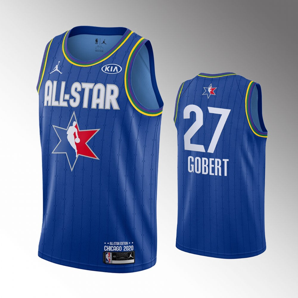 Men's Utah Jazz 2020 NBA All-Star Game Rudy Gobert Finished Jersey - Blue