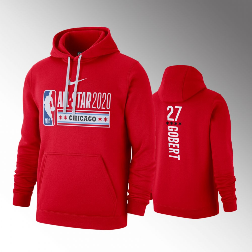 Men's Utah Jazz 2020 NBA All-Star Game Rudy Gobert Club Fleece Hoodie - Red