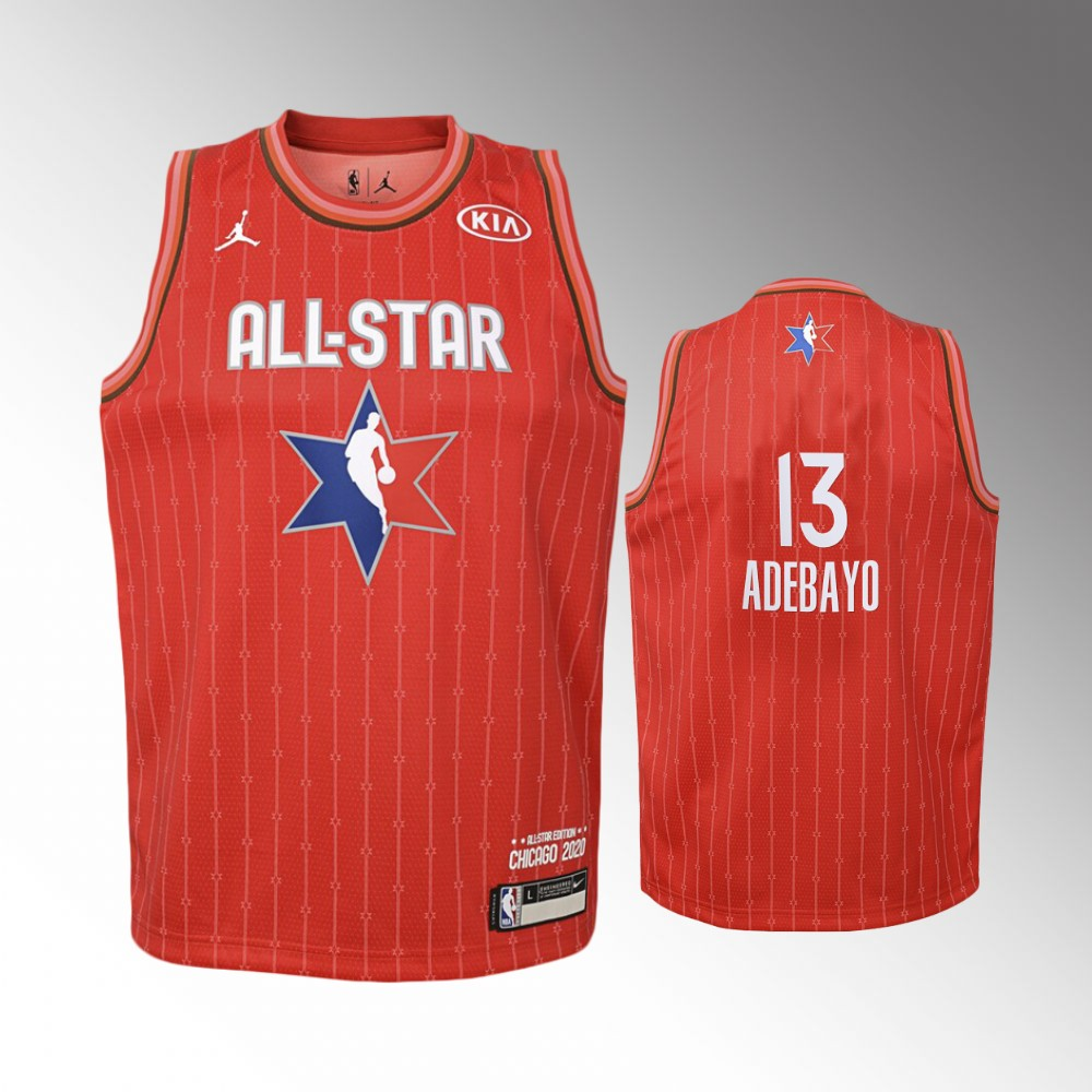 Youth Miami Heat 2020 NBA All-Star Game Bam Adebayo Eastern Conference Jersey - Red