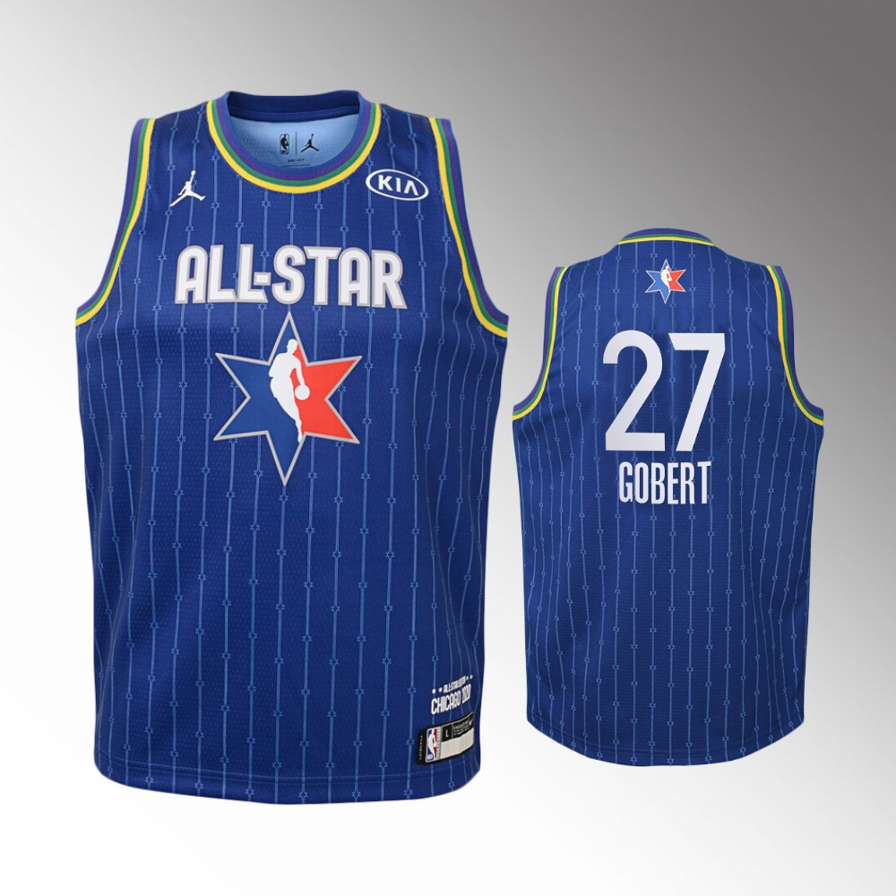 Youth Utah Jazz 2020 NBA All-Star Game Rudy Gobert Western Conference Jersey - Blue