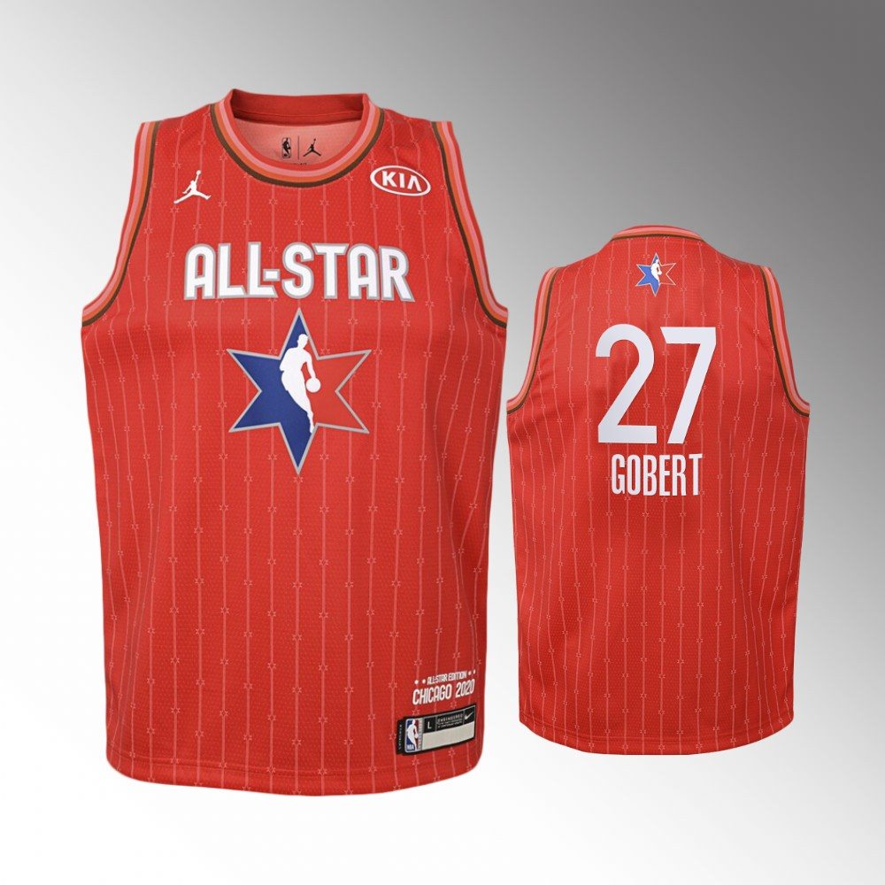 Youth Utah Jazz 2020 NBA All-Star Game Rudy Gobert Western Conference Jersey - Red
