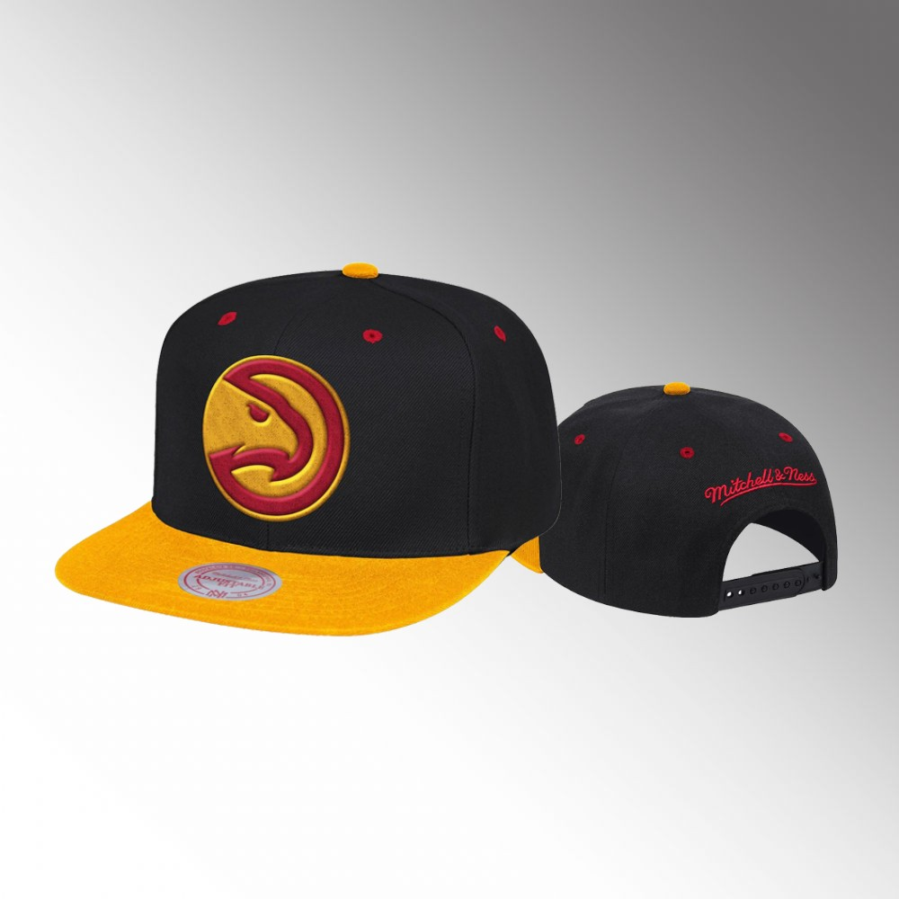 Atlanta Hawks Black Yellow Reload Men's Hardwood Classics Snapback Hat