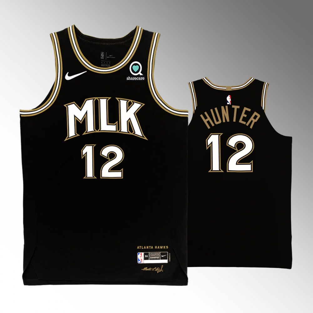 De'andre Hunter Atlanta Hawks Black MLK City Edition Jersey