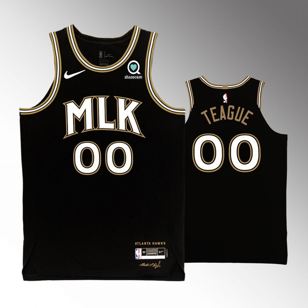 Jeff Teague Atlanta Hawks Black MLK City Edition Jersey
