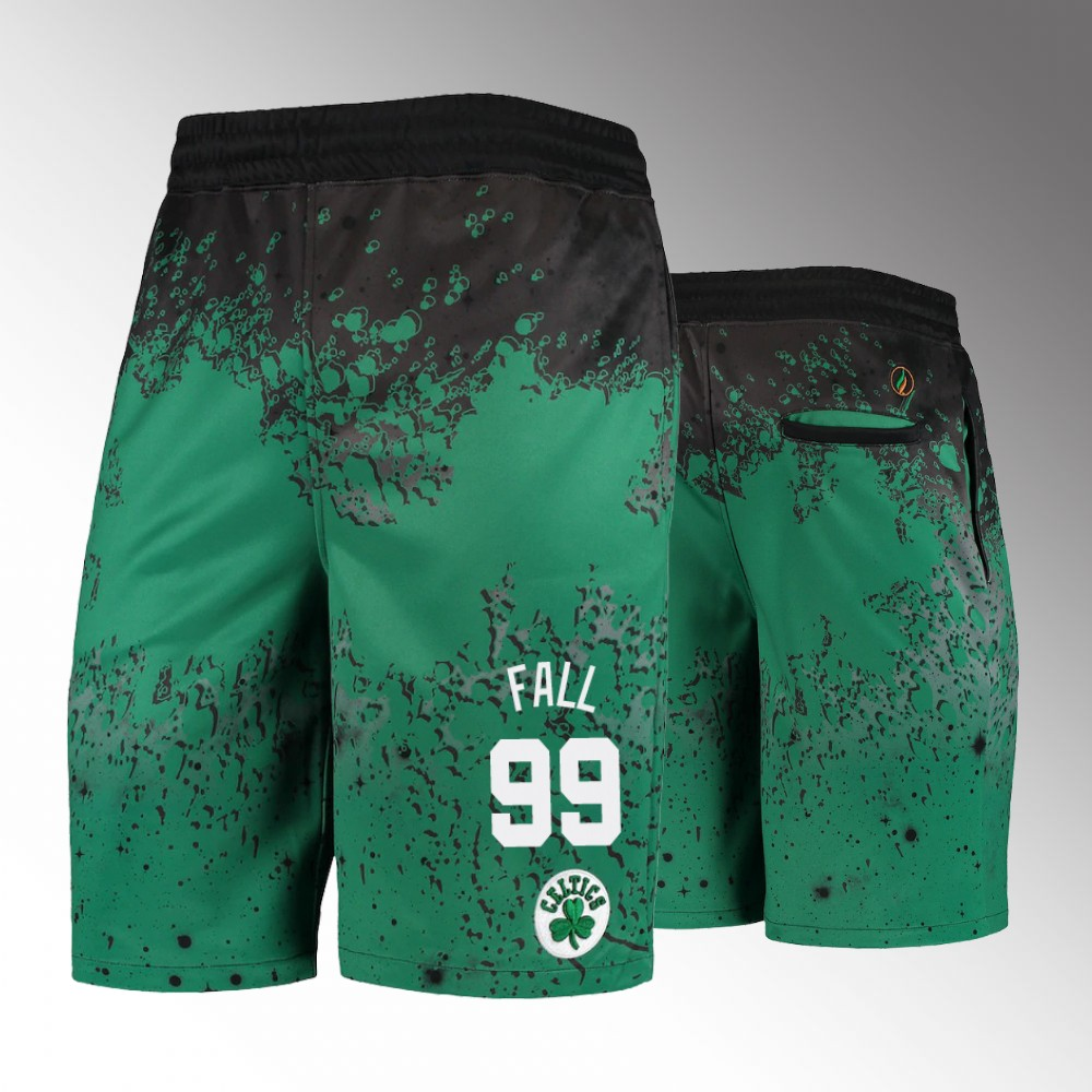 Boston Celtics Kelly Green Oversized Shorts