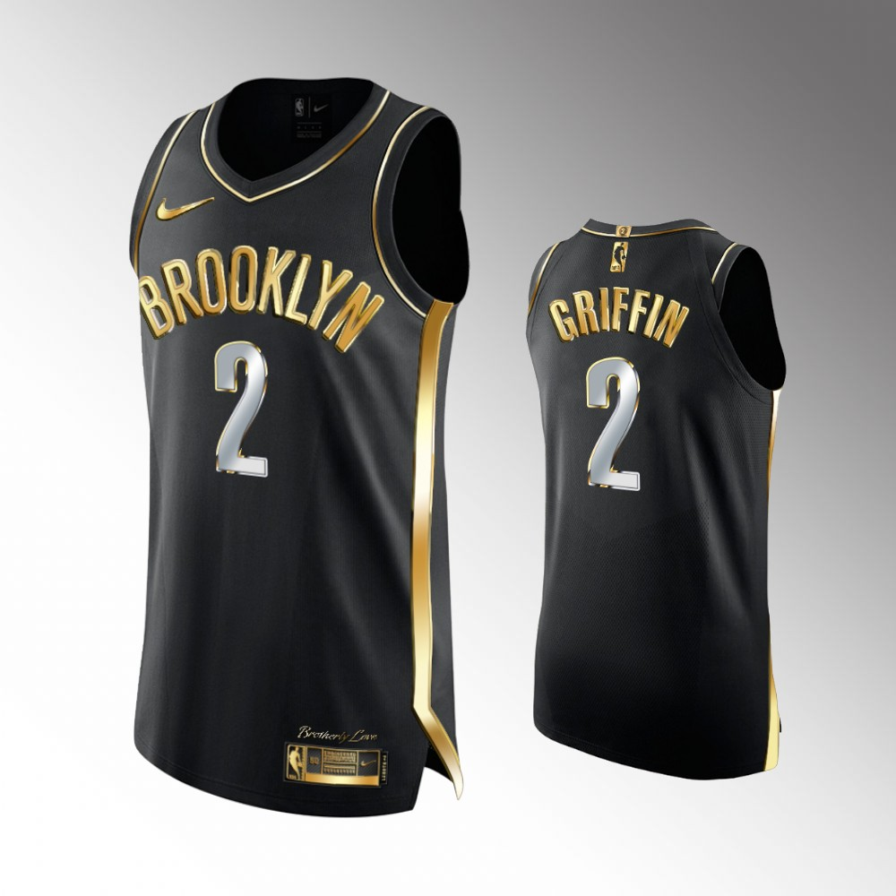 Blake Griffin Brooklyn Nets Black Golden Edition Jersey