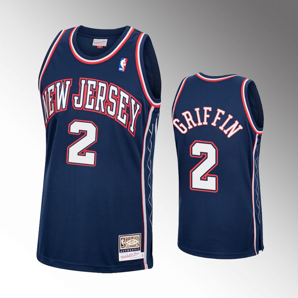 Blake Griffin Brooklyn Nets Navy Hardwood Classics Jersey