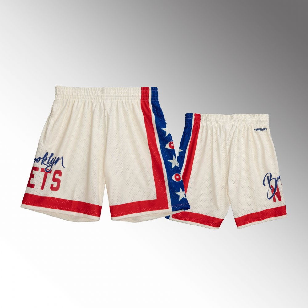 Brooklyn Nets Cream Joey Badass x BR Remix Shorts