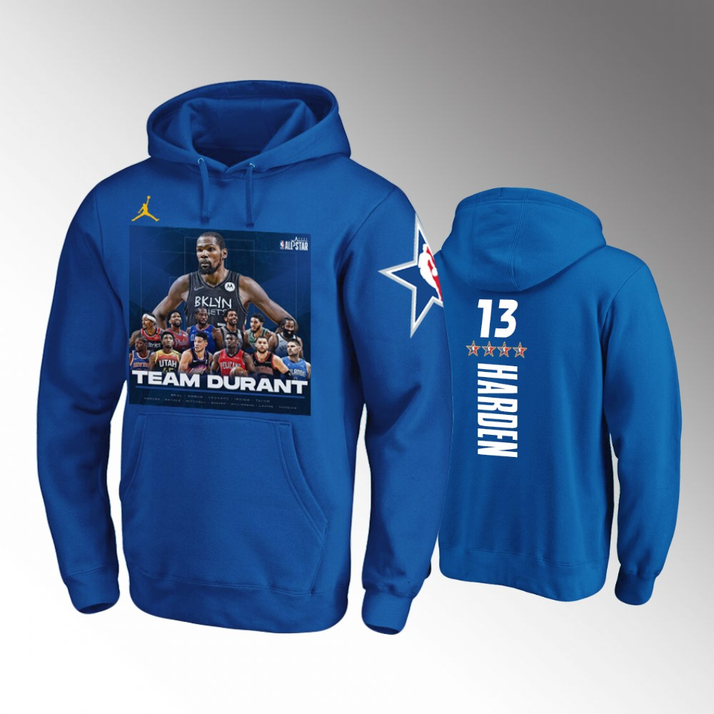 James Harden Brooklyn Nets Royal TEAM DURANT NBA All-Star Game Hoodie