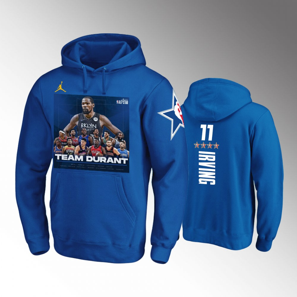Kyrie Irving Brooklyn Nets Royal TEAM DURANT NBA All-Star Game Hoodie