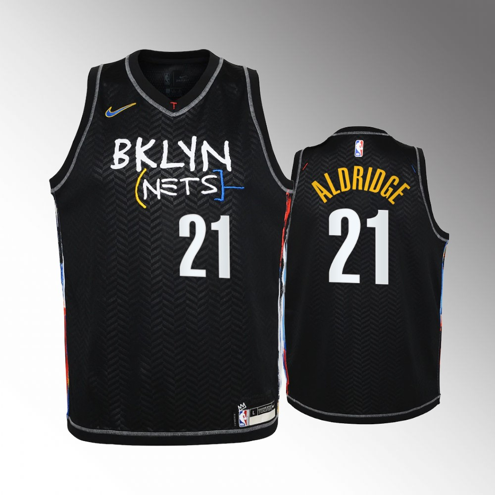 LaMarcus Aldridge Brooklyn Nets Black City Edition Jersey