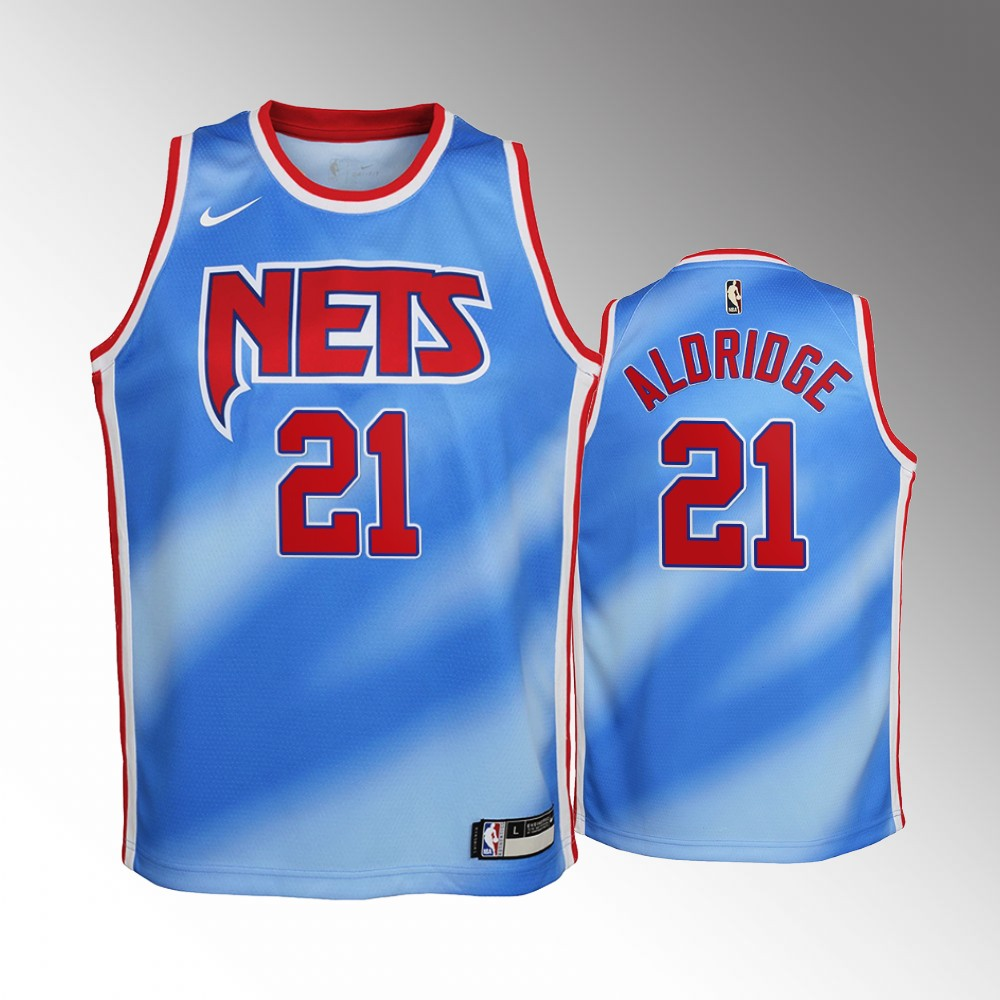 LaMarcus Aldridge Brooklyn Nets Blue Classic Edition Jersey