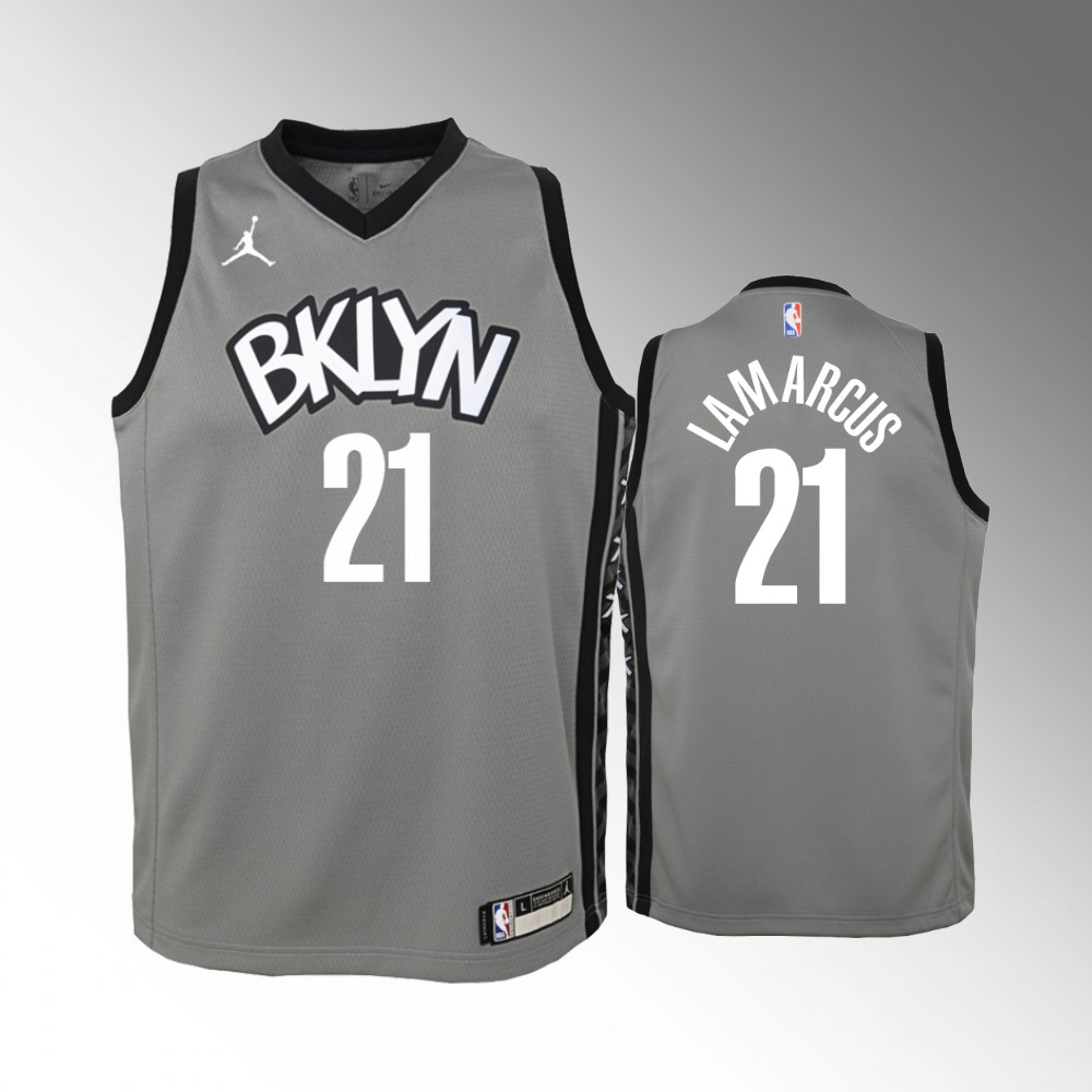 LaMarcus Aldridge Brooklyn Nets Gray Statement Edition Jersey