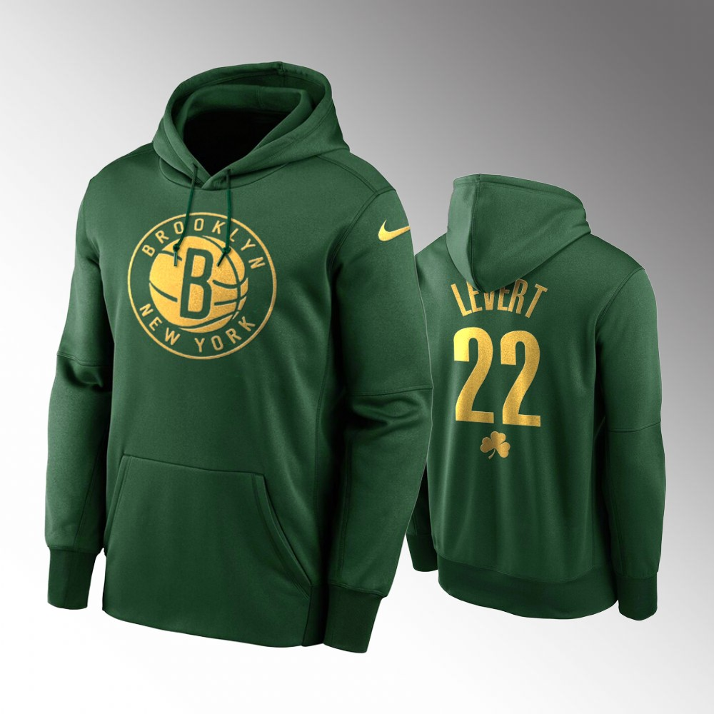 Brooklyn Nets Caris LeVert Green 2020 St. Patrick's Day Golden Edition Pullover Hoodie