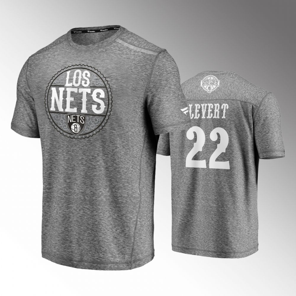 Caris LeVert Brooklyn Nets Noches Ene-Be-A Heathered Gray T-Shirt - Latin Nights