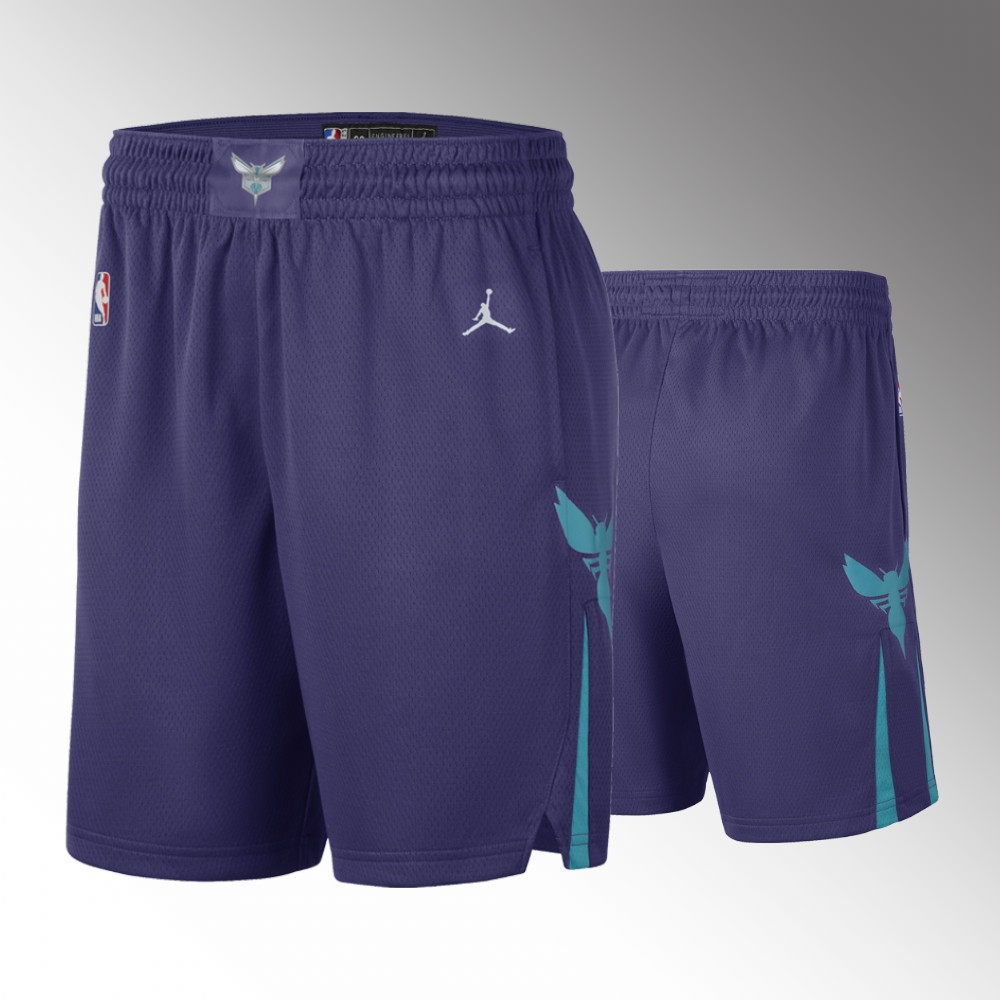 Charlotte Hornets Purple Statement Shorts
