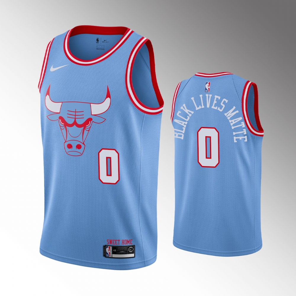 Coby White Chicago Bulls Blue City Jersey