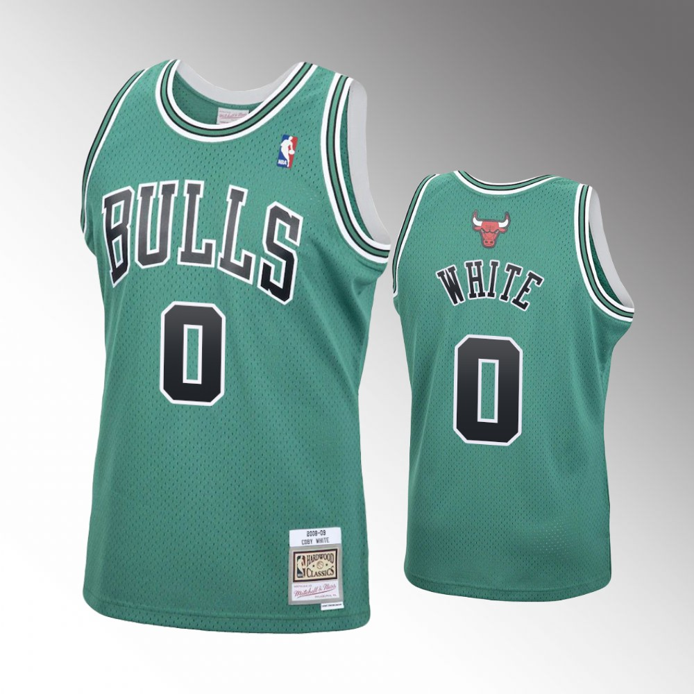 Coby White Chicago Bulls Green 2008-09 Hardwood Classics Jersey