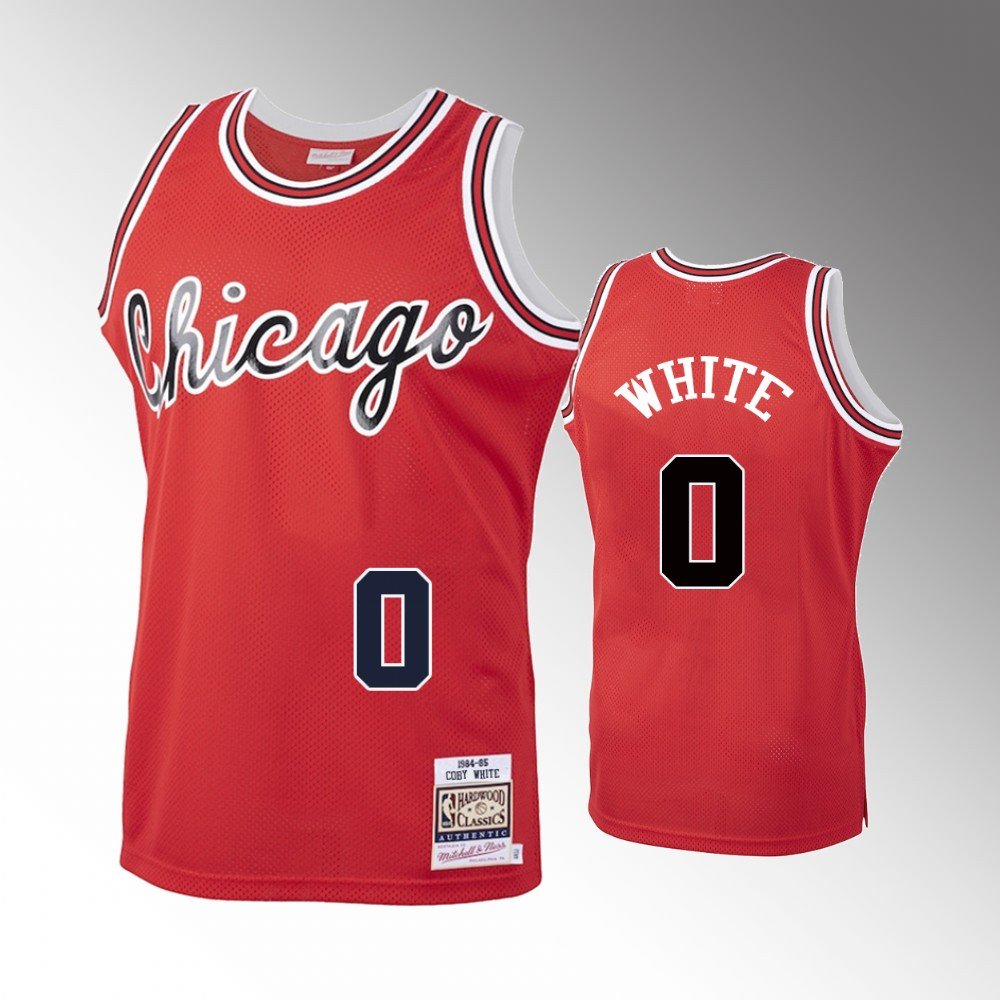 Coby White Chicago Bulls Red Hardwood Classics Jersey