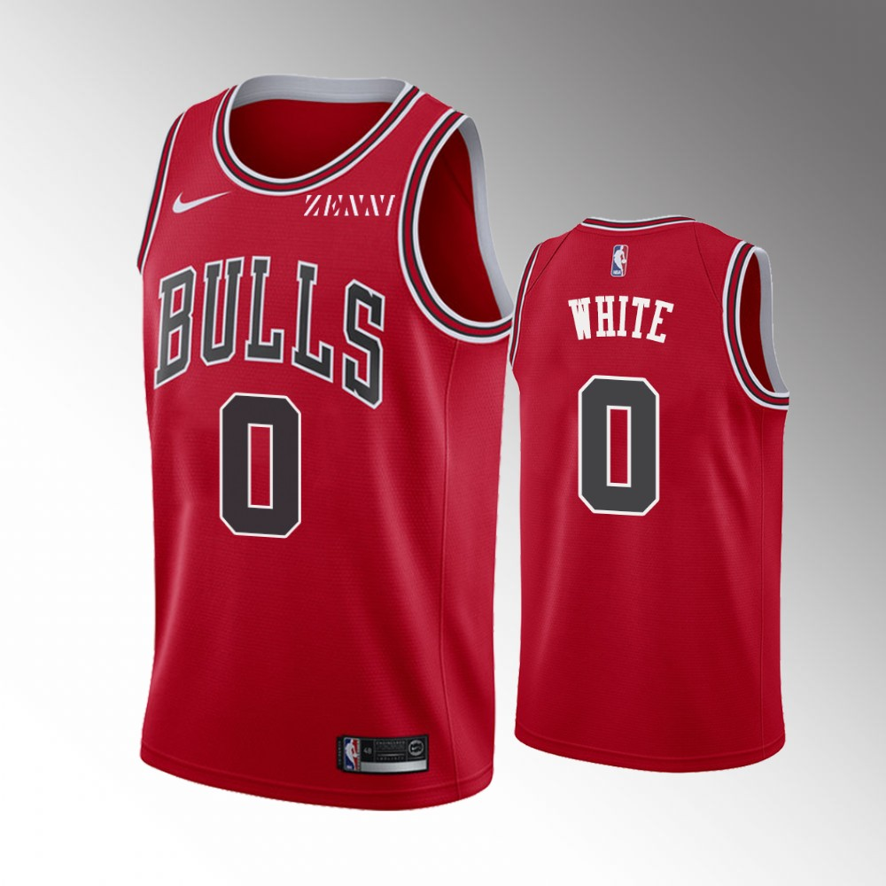 Coby White Chicago Bulls Red Icon Edition Jersey