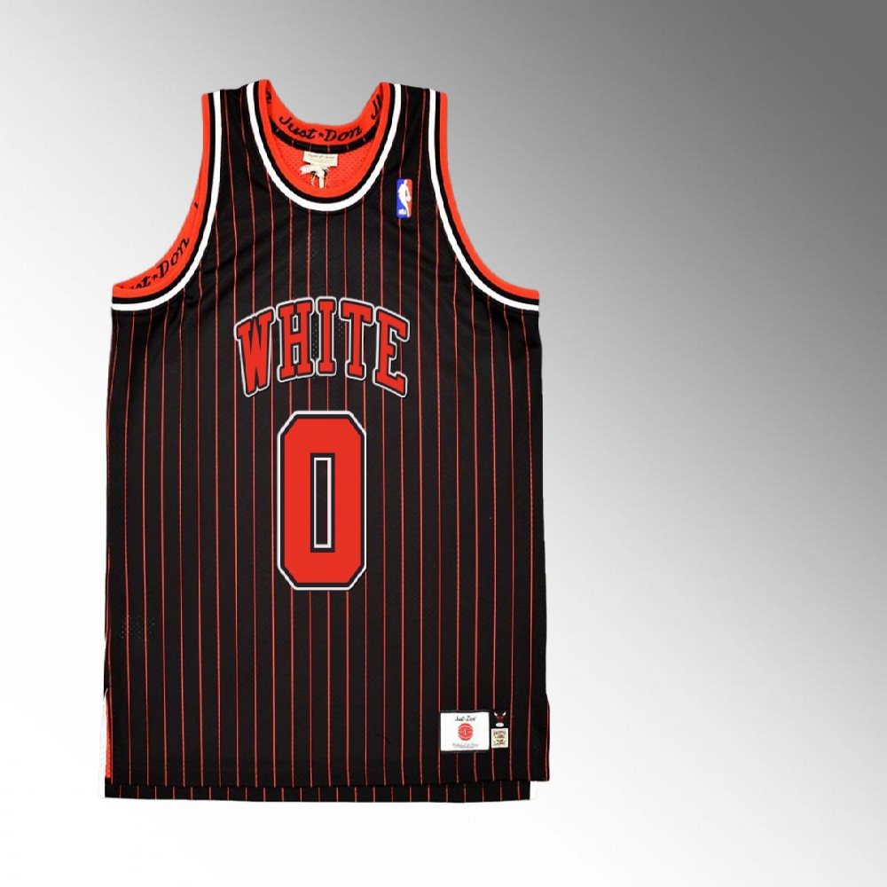 Coby White Chicago Bulls Red Just Don X Mitchell Ness Jersey