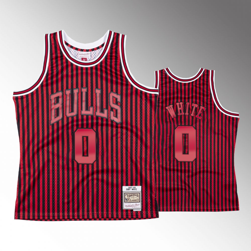 Coby White Chicago Bulls Red Striped Jersey
