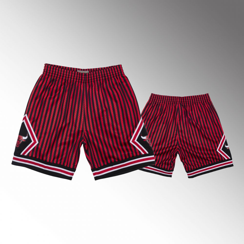 Chicago Bulls Red Striped Shorts
