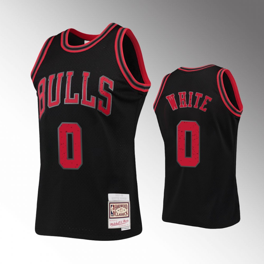 Chicago Bulls Coby White Rings Collection Jersey - Black