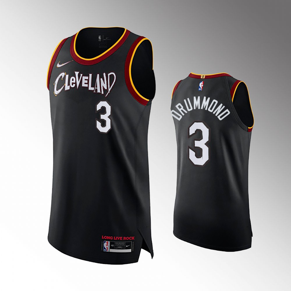 Andre Drummond Cleveland Cavaliers Black 2021 Authentic City Jersey