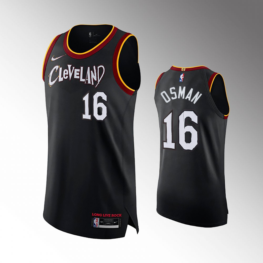 Cedi Osman Cleveland Cavaliers Black 2021 Authentic City Jersey