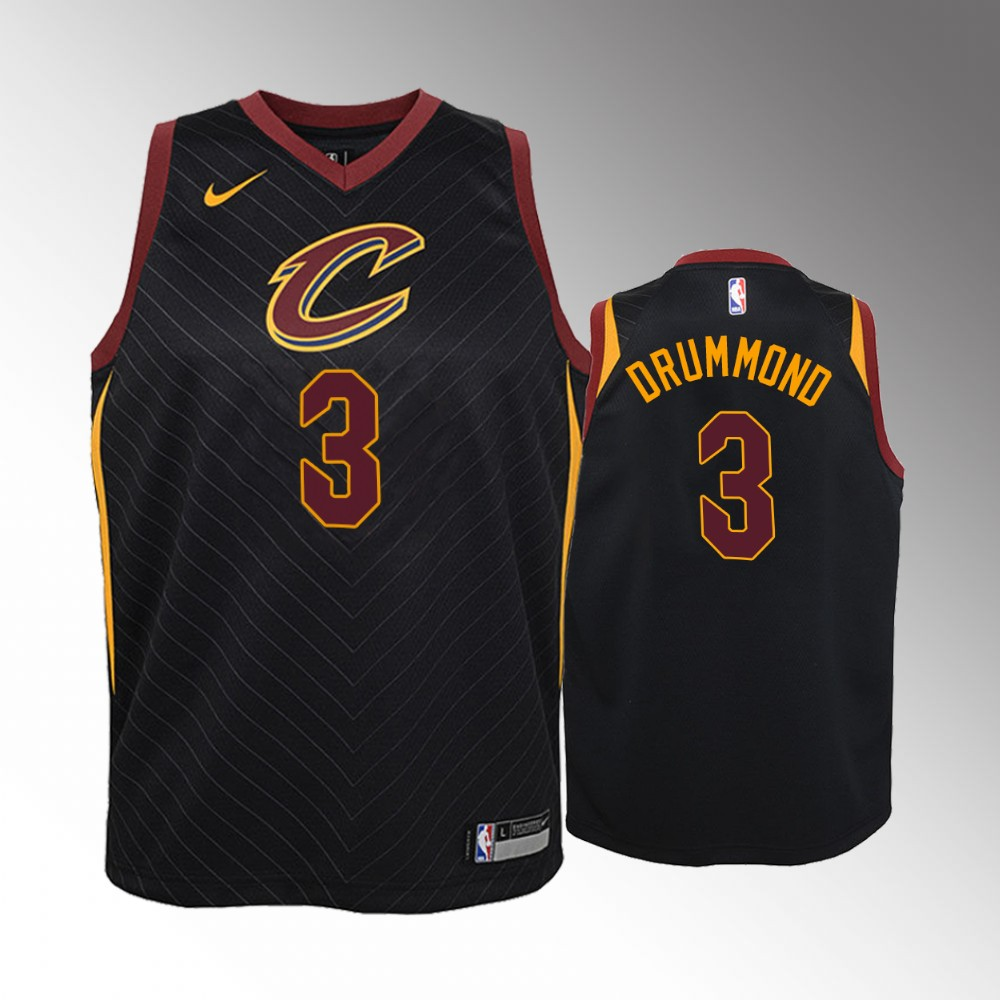 Youth Cleveland Cavaliers Statement #3 Black Andre Drummond Jersey