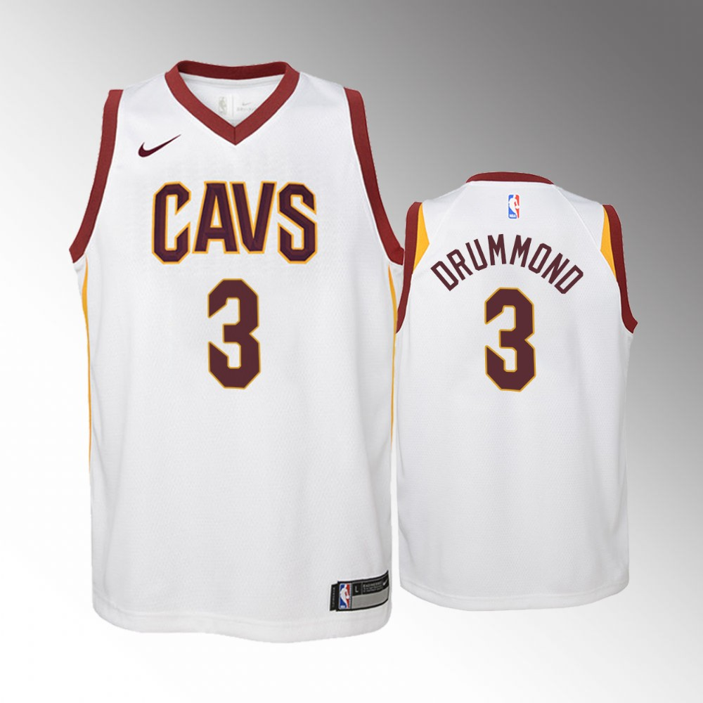 Youth Cleveland Cavaliers Association #3 White Andre Drummond Jersey