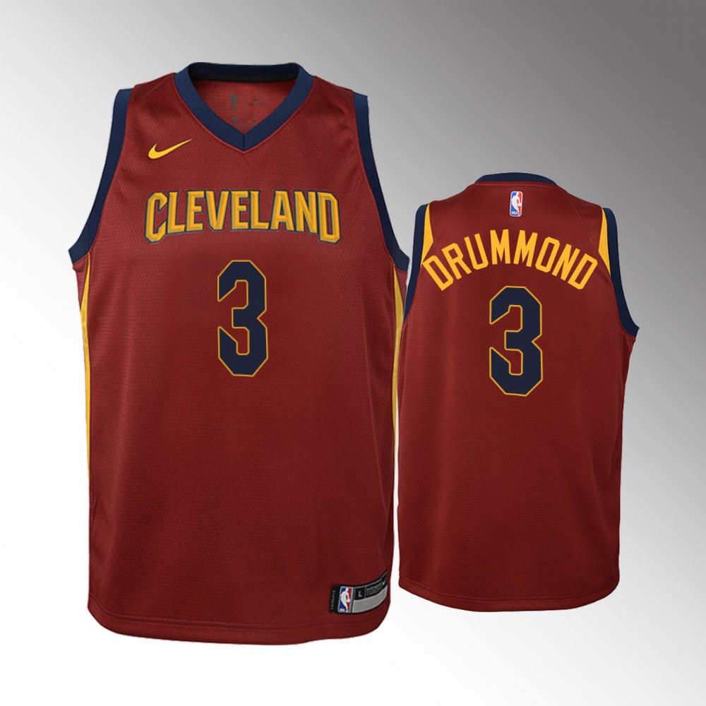 Youth Cleveland Cavaliers Icon #3 Wine Andre Drummond Jersey