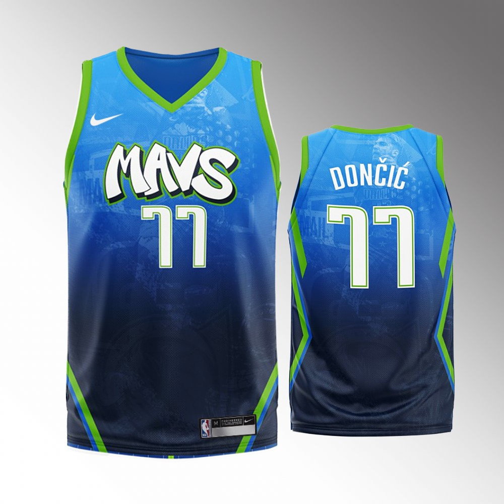 Luka Doncic Dallas Mavericks Blue 2020 Fashion Edition Jersey