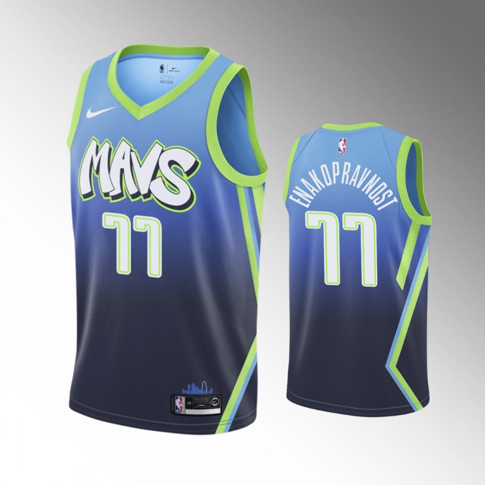 Luka Doncic Dallas Mavericks Blue City Jersey