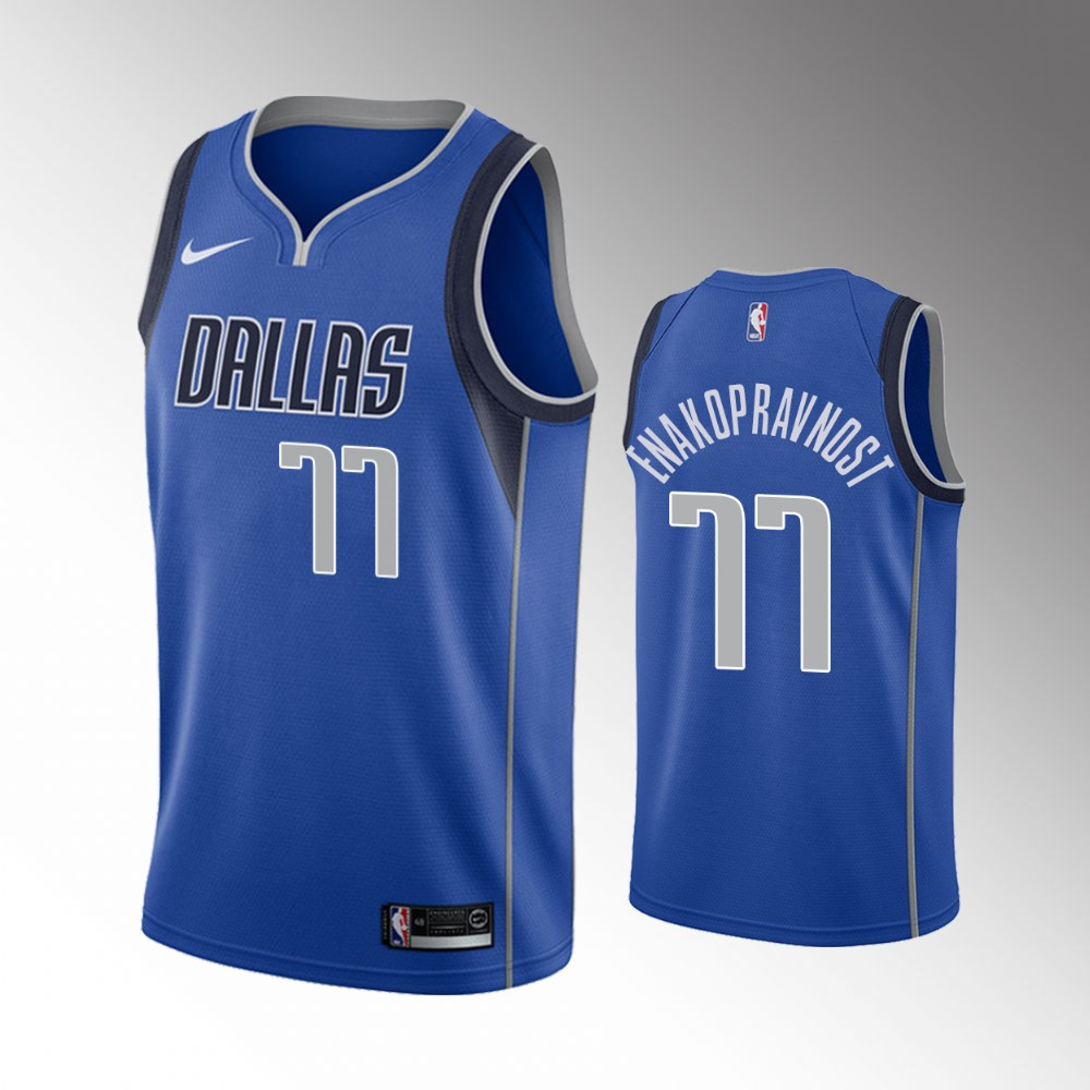 Luka Doncic Dallas Mavericks Blue Icon Jersey