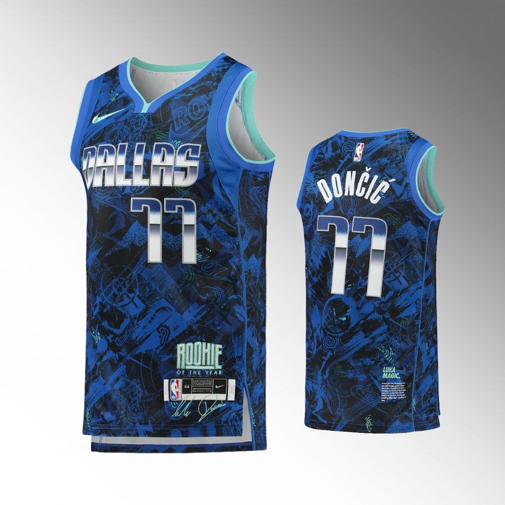 Luka Doncic Dallas Mavericks Blue Rookie of the Year Jersey