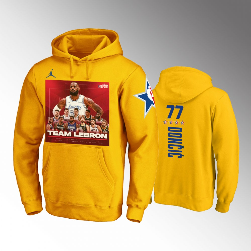 Luka Doncic Dallas Mavericks Gold TEAM LEBBRON NBA All-Star Game Hoodie