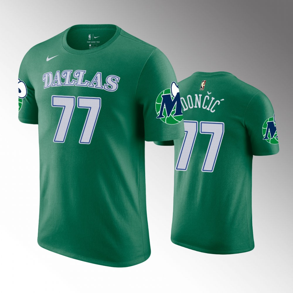 Luka Doncic Dallas Mavericks Hardwood Classics Green T-Shirt