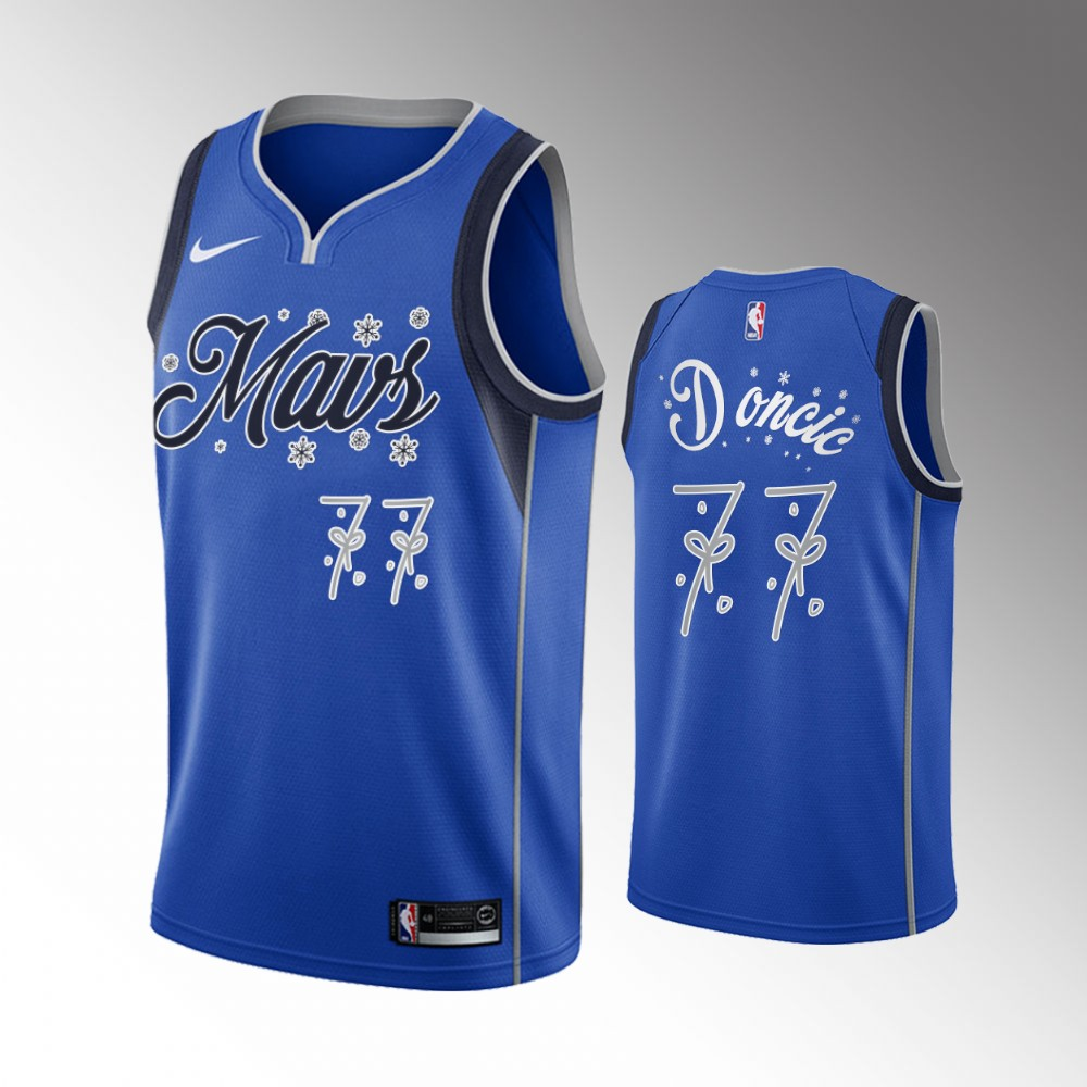 Luka Doncic Dallas Mavericks Navy 2020 Christmas Night Jersey
