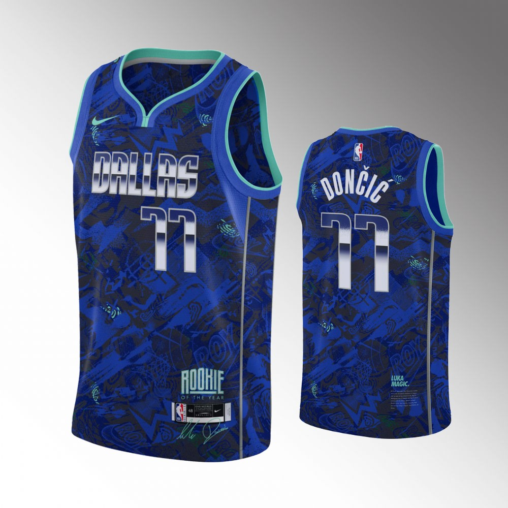 Luka Doncic Dallas Mavericks Royal Rookie of the Year Jersey