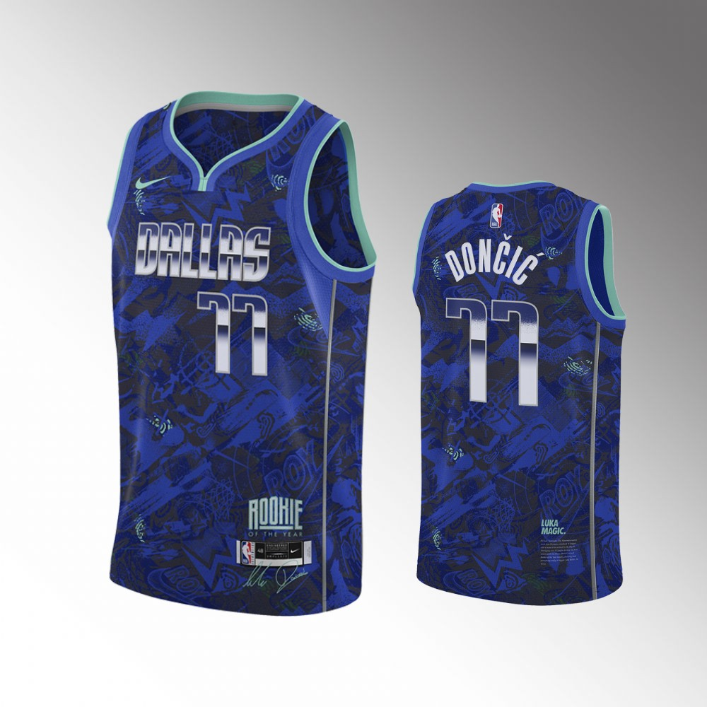 Luka Doncic Dallas Mavericks Royal Select Series MVP Jersey