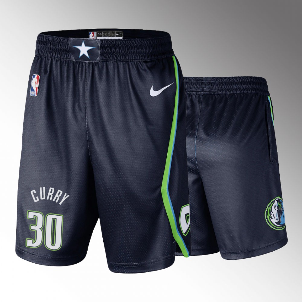 Dallas Mavericks Navy 2019-20 Icon Edition Swingman Shorts