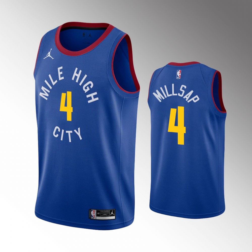 Paul Millsap Denver Nuggets Blue Statement Jersey