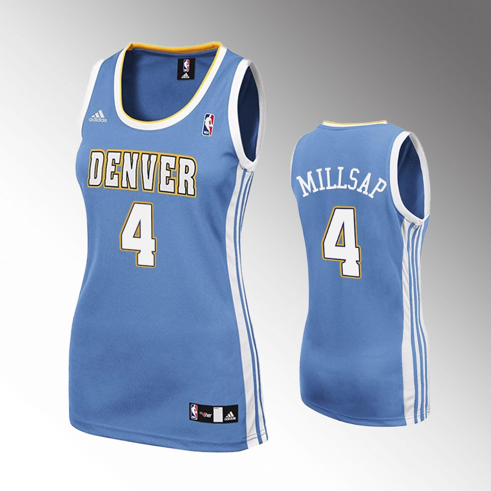 Paul Millsap Denver Nuggets Light Blue Hardwood Classics Jersey