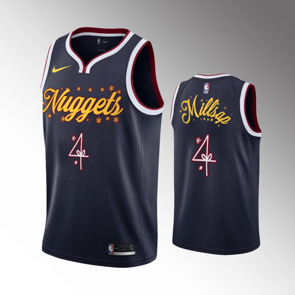 Paul Millsap Denver Nuggets Navy 2020 Christmas Night Jersey