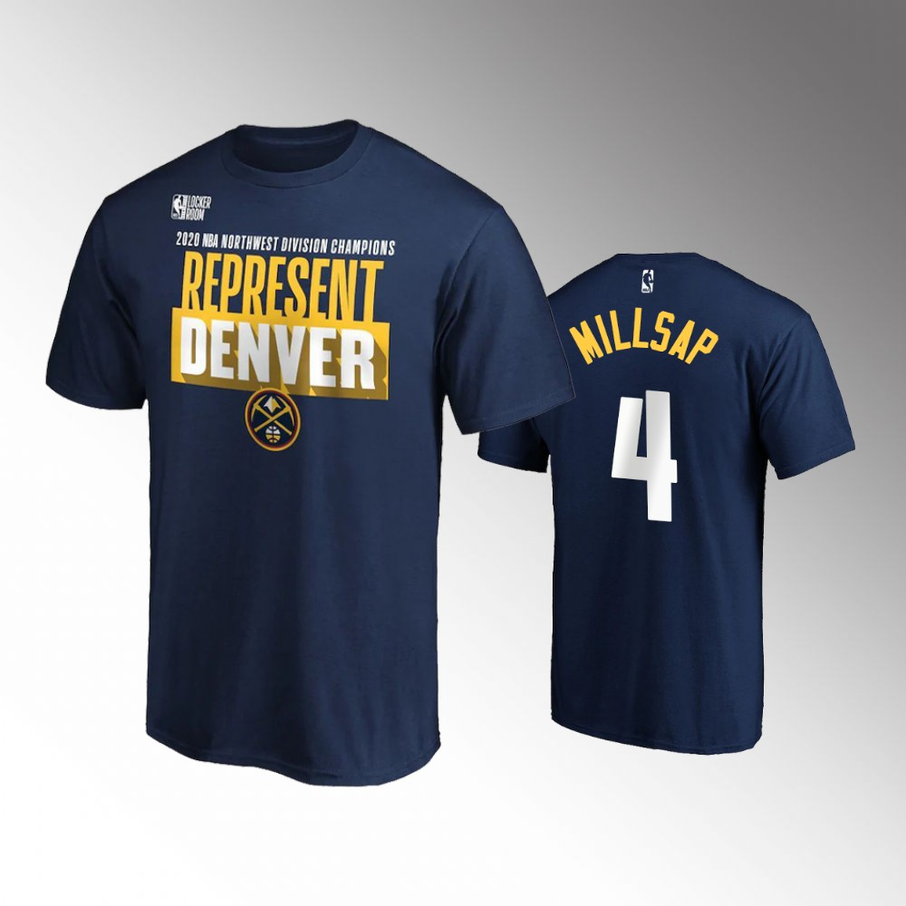 Paul Millsap Denver Nuggets 2020 Northwest Division Champions Locker Room Navy T-Shirt