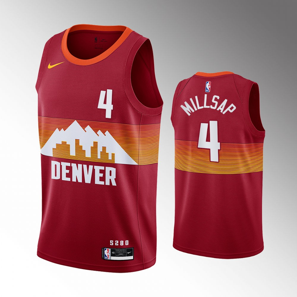 Paul Millsap Denver Nuggets Orange City Edition Jersey