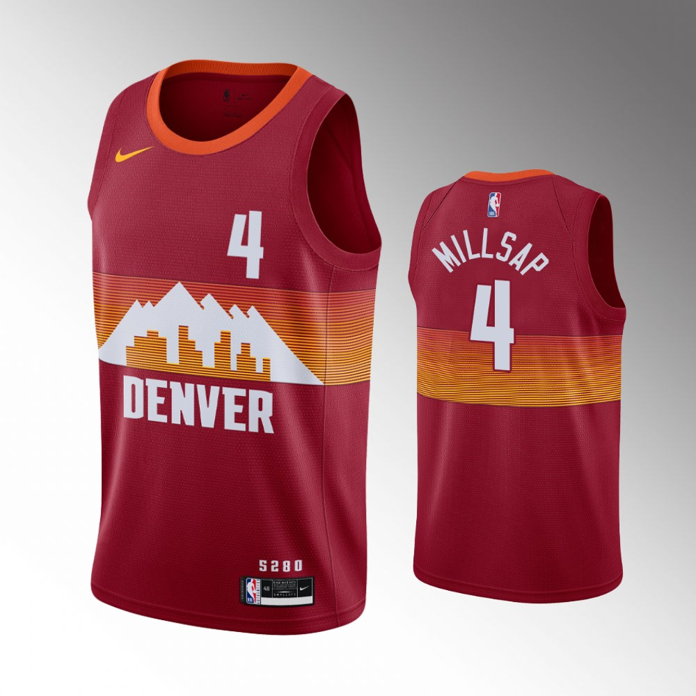 Paul Millsap Denver Nuggets Red City Jersey